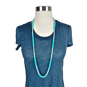 LOFT Turquoise Seed Bead Single Strand Necklace